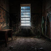 Abandoned Building - Old Room - Room With A Desk Art Print