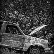 Abandoned Car Road To Hana Maui Art Print