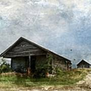 Abandoned Farm Home - Kansas Art Print