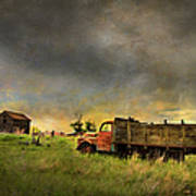 Abandoned Farm Truck Art Print