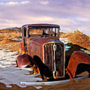 Abandoned For Almost 100 Years On Route 66 Art Print