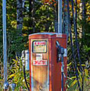 Abandoned Gas Pump Art Print