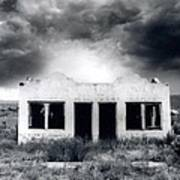 Abandoned Gas Station In Nm Art Print