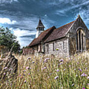 Abandoned Grave In The Churchyard Art Print