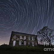 Abandoned History Star Trails Art Print by Michael Ver Sprill