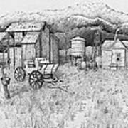 Abandoned Old Farmhouse And Barn Art Print