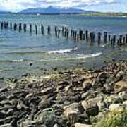 Abandoned Old Pier In Puerto Natales Chile Art Print