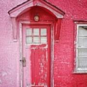 Abandoned Pink And Red House Art Print