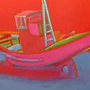 Abandoned Red Fishing Trawler Art Print