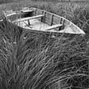 Abandoned Row Boat Along The Shoreline On Prince Edward Island Art Print