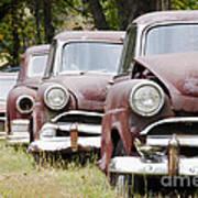 Abandoned Rusted Cars Art Print