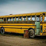Abandoned School Bus Art Print