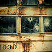 Abandoned Train Car Art Print