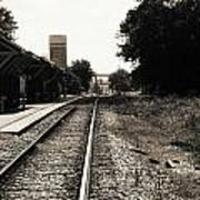 Abandoned Train Station Art Print