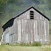 Abandoned Vintage Barn In Illinois Art Print