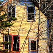 Abandoned Yellow House Art Print