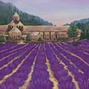 Abbaye Notre-dame De Senanque Art Print
