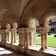 Abbey Fontenay - Cloister Vault  Art Print