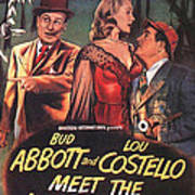 Abbott And Costello Meet The Invisible Man  Art Print