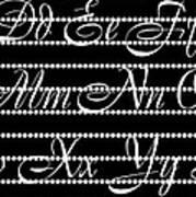 Abc 123 Black Art Print