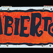Abierto Art Print