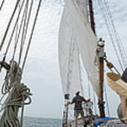 Aboard The Tyrone Opsail 2012  Art Print