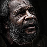 Aboriginal man Art Print