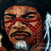 Aborigine Hunter Art Print
