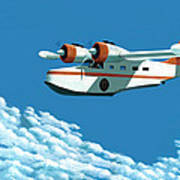 Above It All  The Grumman Goose Art Print