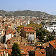 Above The Roofs Of Cannes Art Print