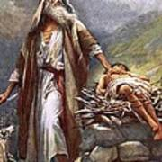 Abraham And Isaac Art Print by Harold Copping