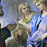 Abraham And The Three Angels Art Print