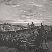Abraham Journeying Into The Land Of Canaan Art Print