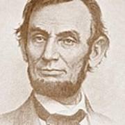 Abraham Lincoln Print by American School