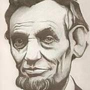 Abraham Lincoln Drawing Art Print