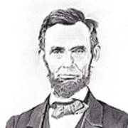 Abraham Lincoln Art Print by Lou Knapp