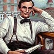 Abraham Lincoln Of Springfield Bicentennial Portrait Art Print
