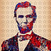 Abraham Lincoln Pop Art Art Print