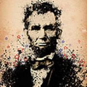 Abraham Lincoln Splats Color Art Print