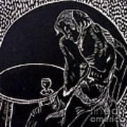 Absinthe Drinker After Picasso Print by Caroline Street