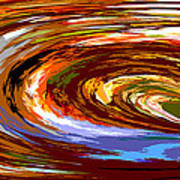 Abstract #140814 - Inside The Pipeline Art Print
