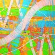 Abstract 23614  Diptych  II Art Print