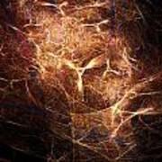 Abstract Angels Burning Sepia Art Print