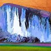 Abstract Arizona Mountains At Icy Dawn Art Print