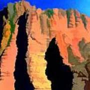Abstract Arizona Mountains At Sunset Art Print