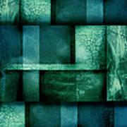 abstract art Blue Dream Art Print by Ann Powell