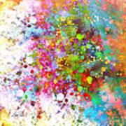 abstract art COLOR SPLASH on Square Art Print