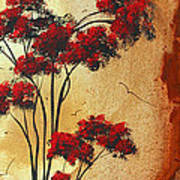 Abstract Art Colorful Original Landscape Painting Birds Aloft By Madart Art Print