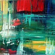 Abstract Art Colorful Original Painting Bold And Beautiful By Madart Art Print