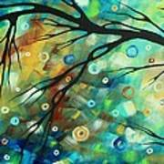 Abstract Art Landscape Circles Painting A Secret Place 2 By Madart Art Print